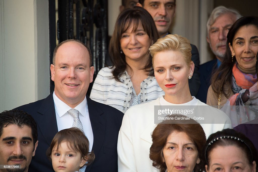 Prince Albert II of Monaco and Princess Charlene of Monaco attend the Parcels Distribution At Monaco Red Cross Headquarters on November 17, 2016 in Monaco, Monaco.