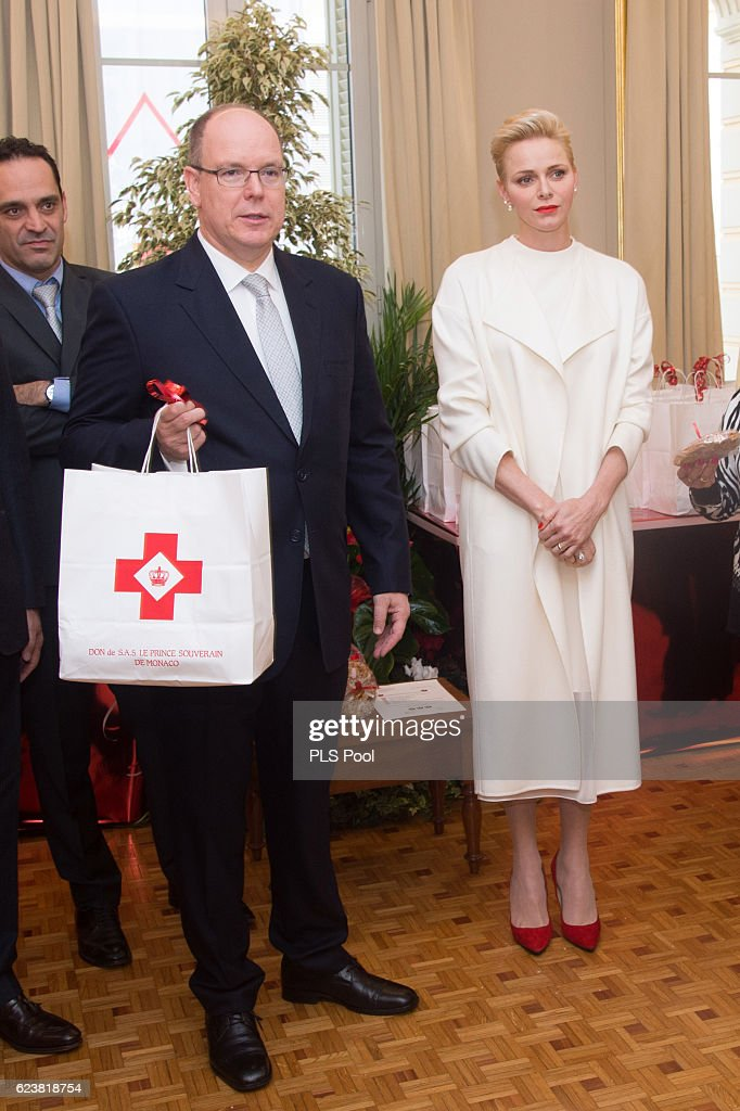 Parcels Distribution At Monaco Red Cross Headquarters : News Photo