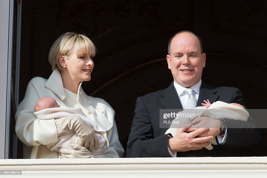 Official Presentation Of The Monaco Twins: Princess Gabriella of Monaco And Prince Jacques of Monaco At The Palace Balcony : News Photo