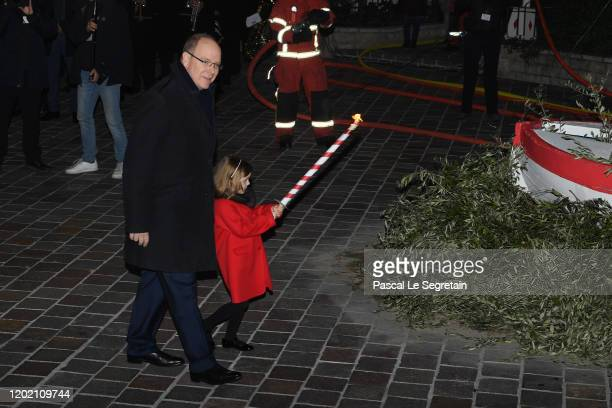 Prince Albert II of Monaco and Princess Gabriella of Monaco attend the Sainte Devote Ceremony. Sainte devote is the patron saint of The Principality...