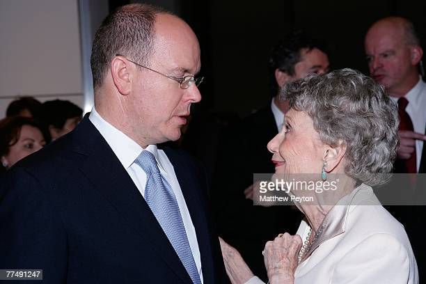 Prince Albert II of Monaco and Princess Grace bridesmaid Sally Parrish Richardson attend the Consulate General of Monaco and Wynn Resorts' Casino...