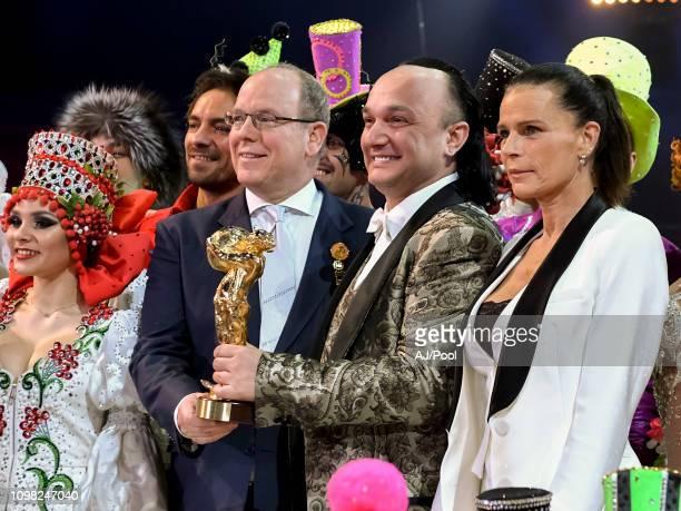 Prince Albert II of Monaco and Princess Stephanie of Monaco attend the 43rd International Circus Festival of MonteCarlo on January 22 2019 in Monaco...