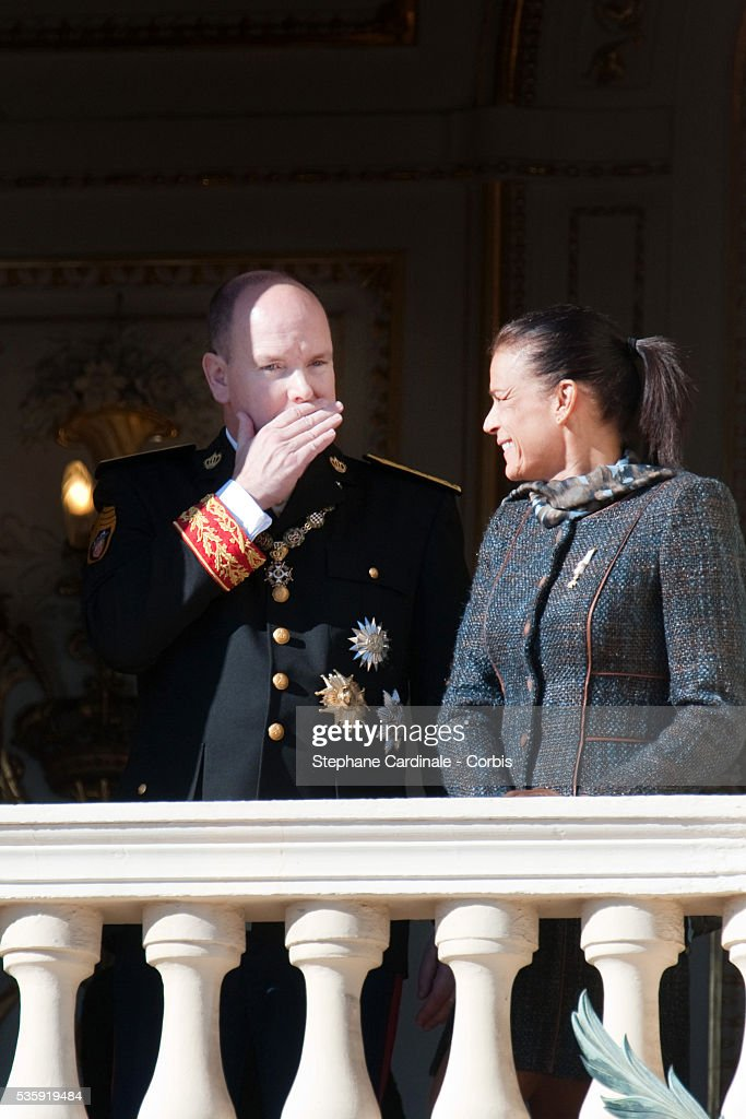 HRH Prince Albert II of Monaco and Princess Stephanie of Monaco attend the National Day celebrations 2010 in Monaco.