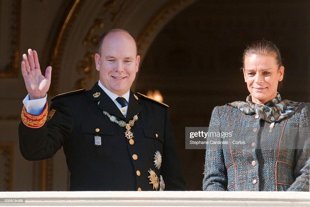 HRH Prince Albert II of Monaco and Princess Stephanie of Monaco attend the National Day celebrations 2010 in Monaco.