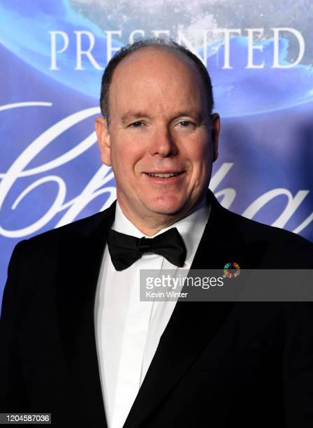 Prince Albert II of Monaco arrives at the 2020 Hollywood For The Global Ocean Gala Honoring HSH Prince Albert II Of Monaco at Palazzo di Amore on...