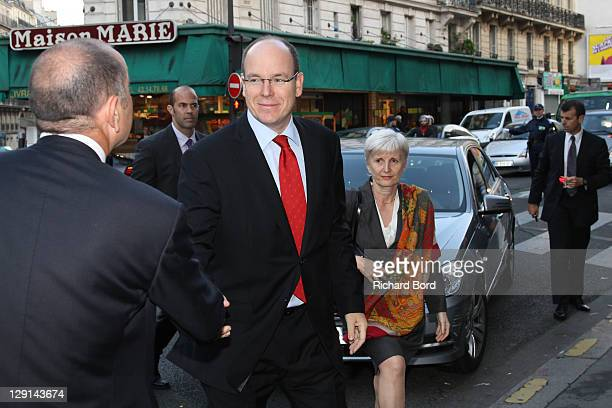 Prince Albert II of Monaco arrives at the 'The Deep Seas, Challenges And Opportunities' Conference at Institut Oceanographique on October 13, 2011 in...