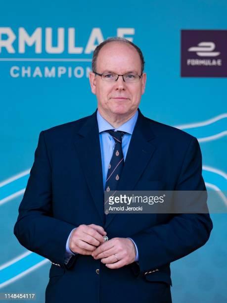 Prince Albert II of Monaco attend the Monaco E-Prix, Formula-E Championship on May 11, 2019 in Monaco, Monaco.