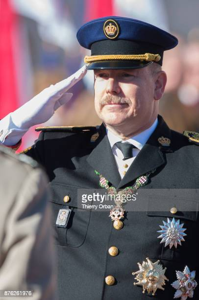 Prince Albert II of Monaco attend the Monaco National Day Celebrations on November 19 2017 in Monaco Monaco