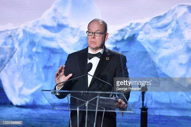 Prince Albert II of Monaco attends 2020 Hollywood For The Global Ocean Gala Honoring HSH Prince Albert II Of Monaco at Palazzo di Amore on February...
