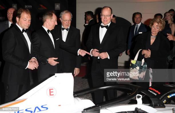Prince Albert II of Monaco attends FIA Formula E Gala Dinner at Villa Miani on April 14, 2018 in Rome, Italy.