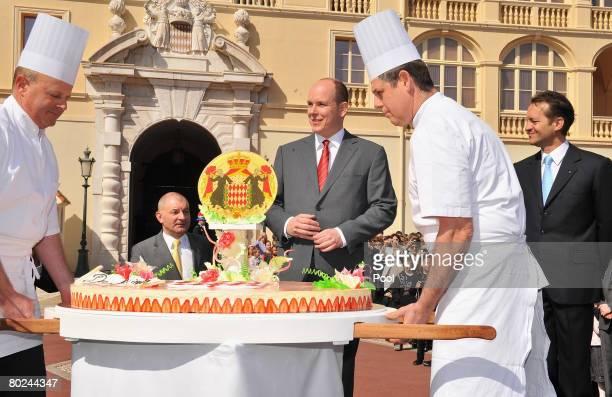 Prince Albert II of Monaco attends his 50th Birthday celebrations on March 14 2008 in Monaco