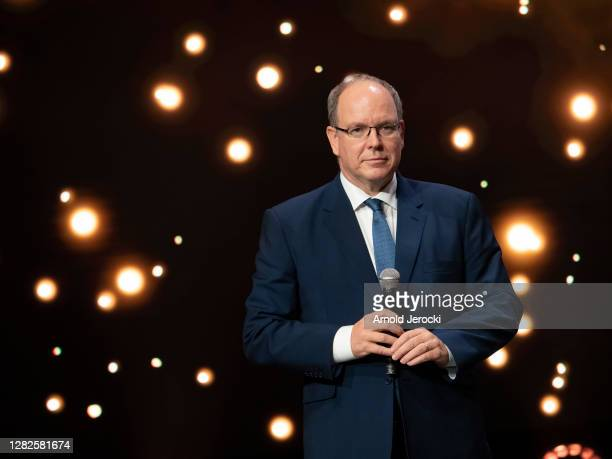 Prince Albert II of Monaco attends Sportel Awards ceremony on October 27, 2020 in Monaco, Monaco.