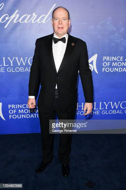 Prince Albert II of Monaco attends the 2020 Hollywood For The Global Ocean Gala Honoring HSH Prince Albert II Of Monaco at Palazzo di Amore on...