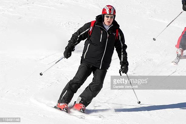 Prince Albert II of Monaco attends the 3rd World on February 9 2008 in Val GardenaGroeden Italy