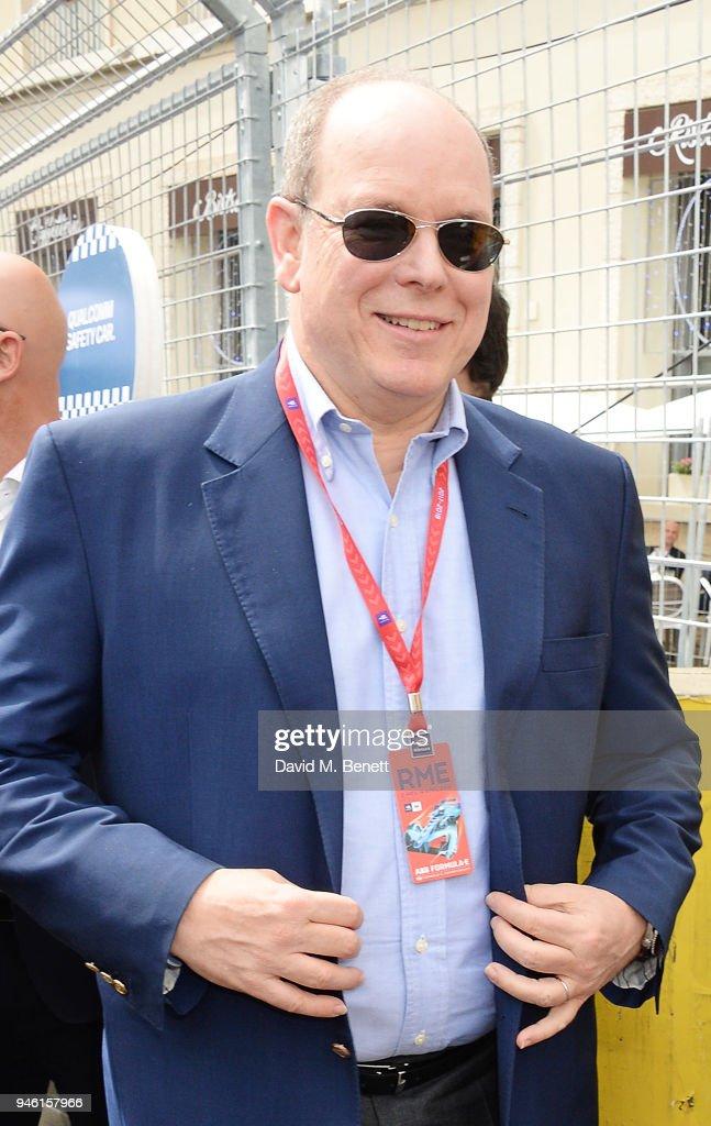 Prince Albert II of Monaco attends the ABB FIA Formula E CBMM Niobium Rome E-Prix 2018 on April 14, 2018 in Rome, .