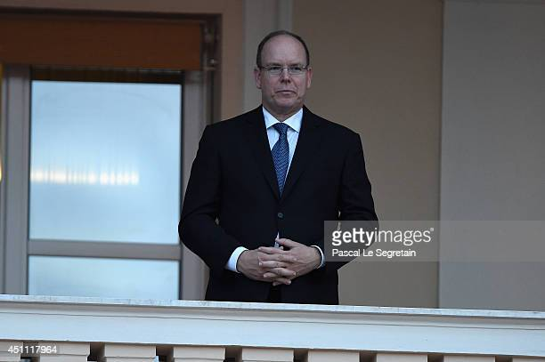 Prince Albert II of Monaco attends the 'Fete De La Saint Jean 2014' Procession on June 23 2014 in Monaco Monaco