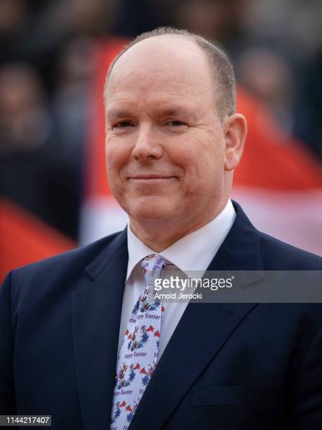 Prince Albert II of Monaco attends the Rolex MonteCarlo Masters at MonteCarlo Country Club on April 21 2019 in MonteCarlo Monaco