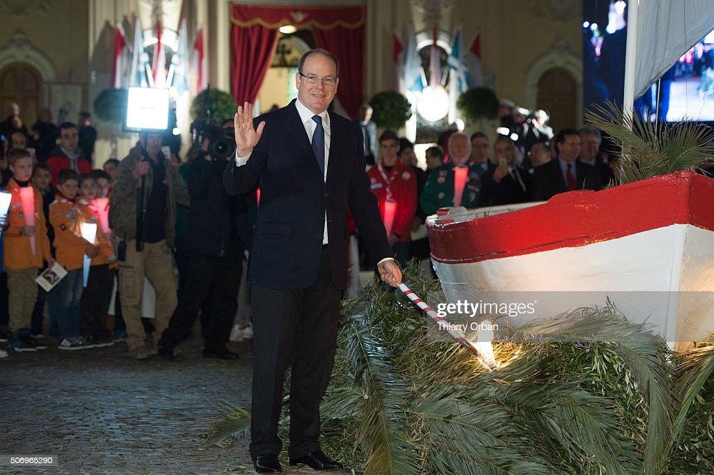 Prince Albert II of Monaco attends the Sainte-Devote ceremony on January 26, 2015 in Monaco, Monaco. Sainte devote is the patron saint of The Principality Of Monaco and France's Mediterranean Corsica island.