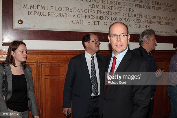 Prince Albert II of Monaco attends the 'The Deep Seas, Challenges And Opportunities' Conference at Institut Oceanographique on October 13, 2011 in...