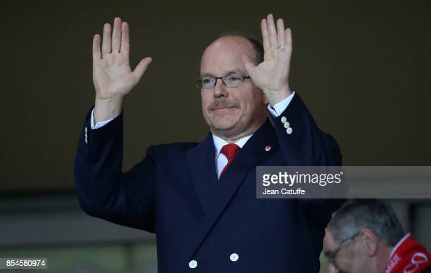 Prince Albert II of Monaco attends the UEFA Champions League group G match between AS Monaco and FC Porto at Stade Louis II on September 26 2017 in...