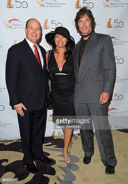 OUT*** HSH Prince Albert II of Monaco Devin Devasquez and actor Ronn Moss attend the Monte Carlo Television Festival cocktail party held at the...
