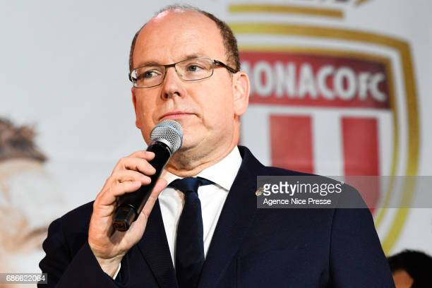Prince Albert II of Monaco during AS Monaco French Ligue 1 Winners Parade on May 21 2017 in Monaco Monaco