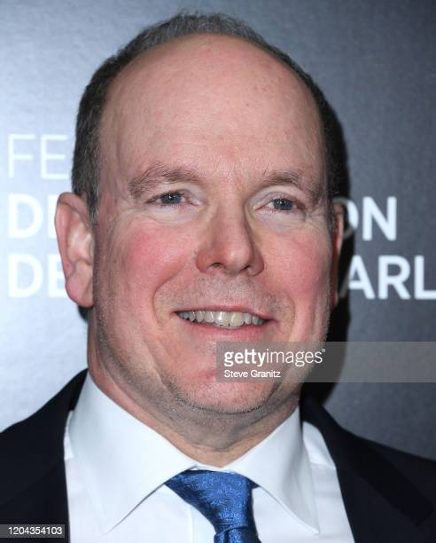 Prince Albert II Of Monaco Hosts 60th Anniversary Party For The MonteCarlo TV Festival at Sunset Tower Hotel on February 05 2020 in West Hollywood...