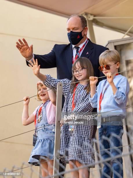 Prince ALbert II of Monaco, HSH Prince Jacques,HSH Princess Gabriela and Kaia Rose Wittstock attends the ABB FIA Formula E Monaco E-Prix on May 08,...