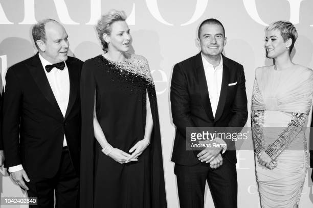 Prince Albert II of Monaco HSH Princess Charlene of Monaco Orlando Bloom and Katy Perry attend Gala for the Global Ocean hosted by HSH Prince Albert...