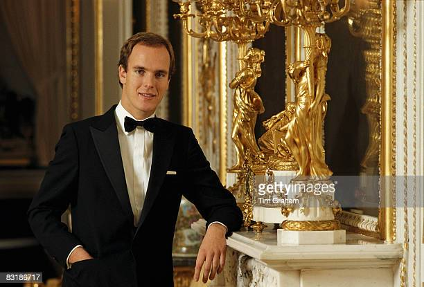 Prince Albert II of Monaco poses at the Royal Palace in Monaco December 1983 in Monte Carlo Monaco