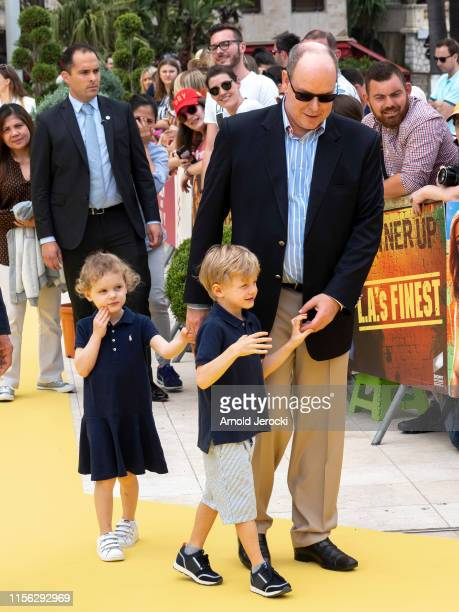 Prince Albert II of Monaco, Prince Jacques and Princess Gabriella attend the 20 year anniversary of Sponge Bob Squarepants the 59th Monte Carlo TV...