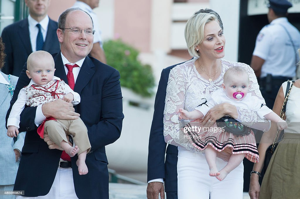 Prince Albert II of Monaco, Prince Jacques, Princess Charlene of Monaco and Princess Gabriella attend the annual traditional 'Pique Nique Monegasque' on August 28, 2015 in Monaco, Monaco.