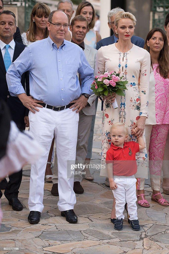 Prince Albert II of Monaco, Prince Jacques, Princess Charlene of Monaco attend the annual traditional 'Pique Nique Monegasque' on September 10, 2016 in Monaco, Monaco.