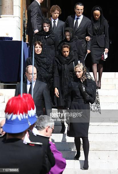 Prince Albert II of Monaco Princess Caroline of Hanover Princess Stephanie of Monaco Charlene Wittstock MelanieAntoinette de Massy ElisabethAnne de...