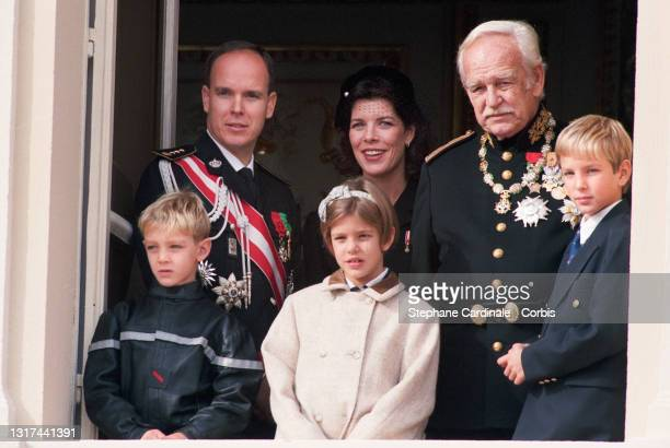 Prince Albert II of Monaco, Princess Caroline of Monaco, Prince Rainier III of Monaco, Pierre Casiraghi, Charlotte Casiraghi and Andrea Casiraghi...