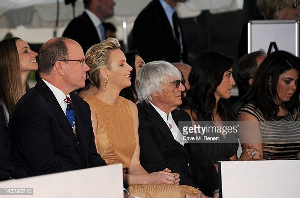 Prince Albert II of Monaco Princess Charlene of Monaco F1 Supremo Bernie Ecclestone Fabiana Flosi and designer Daniella Issa Helayel attend the Amber...