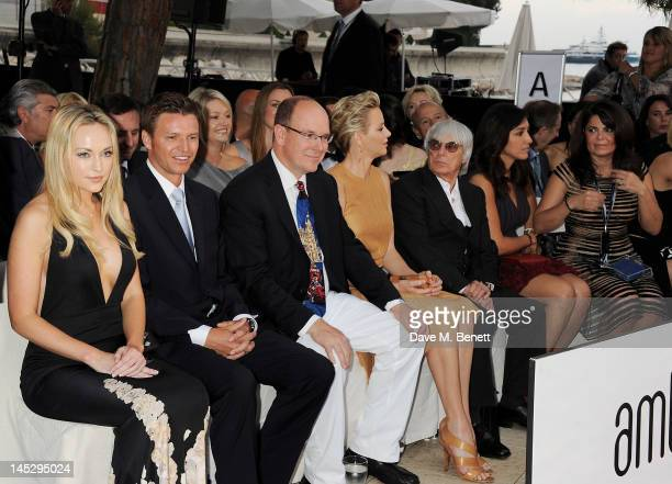 Prince Albert II of Monaco Princess Charlene of Monaco F1 Supremo Bernie Ecclestone Fabiana Flosi and designer Daniella Issa Helayel attend a...