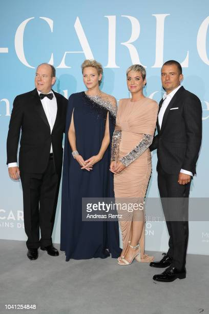 Prince Albert II of Monaco Princess Charlene of Monaco Katy Perry and Orlando Bloom attend the Gala for the Global Ocean hosted by HSH Prince Albert...