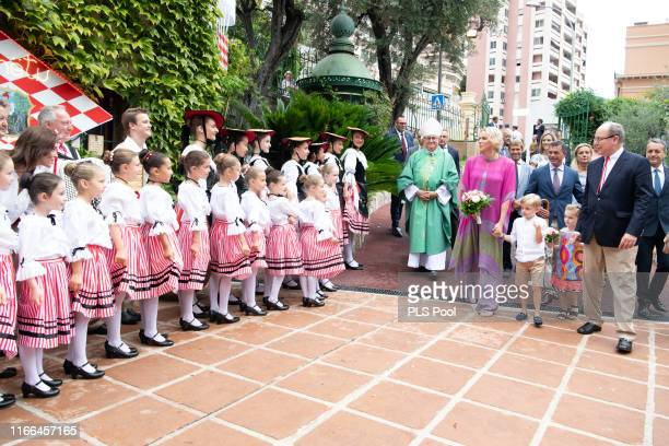 Prince Albert II of Monaco, Princess Charlene of Monaco, Prince Jacques and Princess Gabriella attend the traditional Monaco Picnic on September 06,...