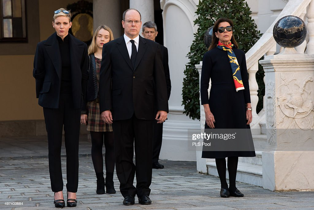 Minute's Silence Held In Monaco To Honour The Victims Of The Terrorist Attack : News Photo