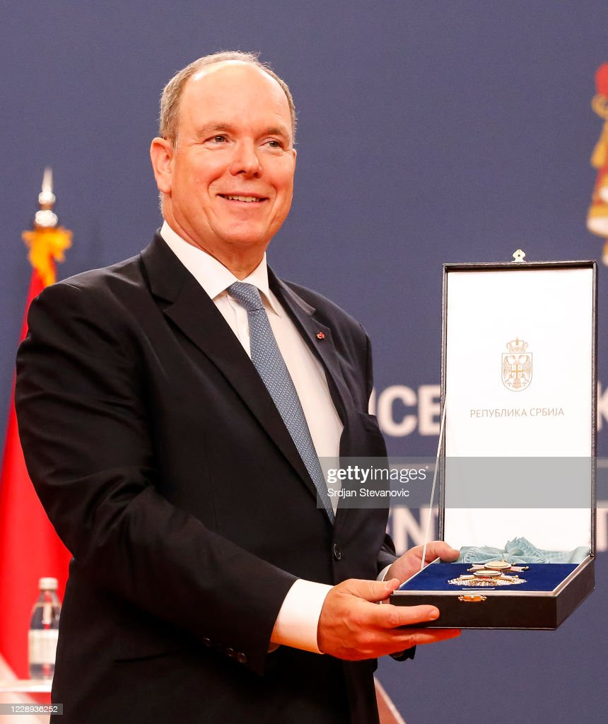 H.S.H. Prince Albert Of Monaco : Official Visit In Belgrade : News Photo