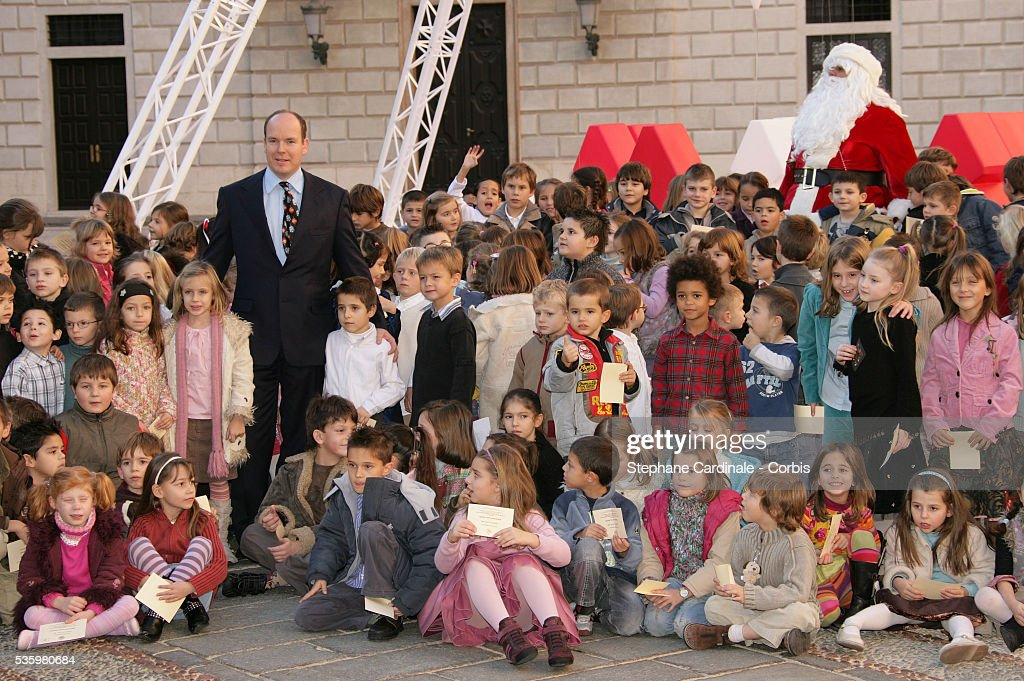 HSH Prince Albert II of Monaco, taking part in the traditional Christmas ceremony.