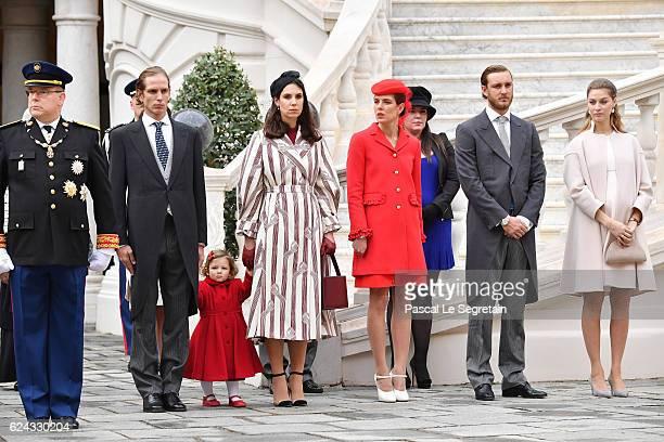 Prince Albert II of MonacoAndrea Casiraghi his daughter IndiaTatiana Santo DomingoCharlotte CasiraghiPierre Casiraghi and Beatrice Borromeo attend...