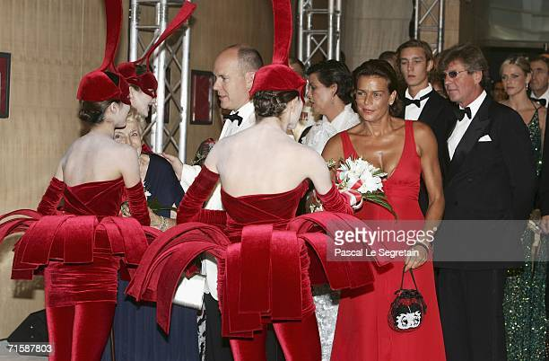 Prince Albert II Princess Stephanie of Monaco Prince Ernst August of Hanover Pierre Casiraghi and Charlene Wittstock arrive at the Monaco Red Cross...