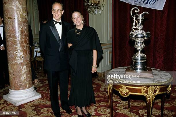 Prince Albert In The Sea Ball In Monaco. Principauté de Monaco- Lors du bal de la mer clôturant la manifestation de réunion des plus beaux yachts du...