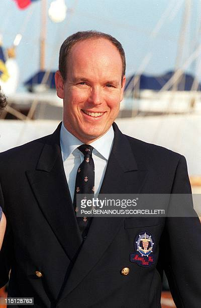Prince Albert inaugurates the Classic Week in Monaco City Monaco on September 11 1999