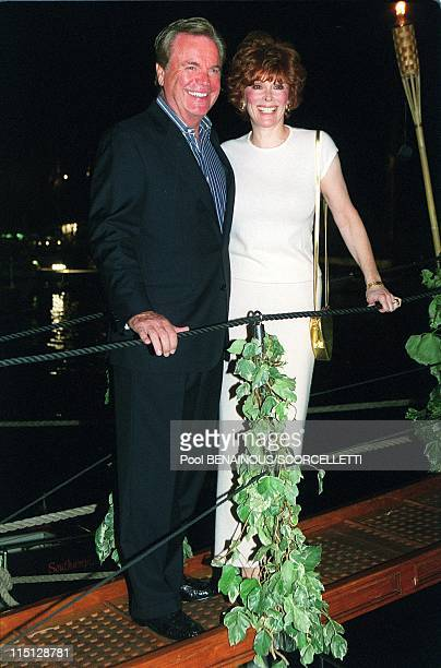 Prince Albert inaugurates the Classic Week in Monaco City Monaco on September 11 1999 Robert Wagner and wife