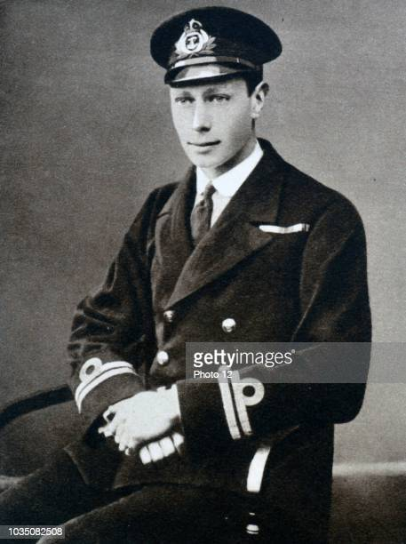 Prince Albert is shown in his Naval officer uniform He was dismissed from HMS Collingwood to recover for appendicitis during that time he served tea...