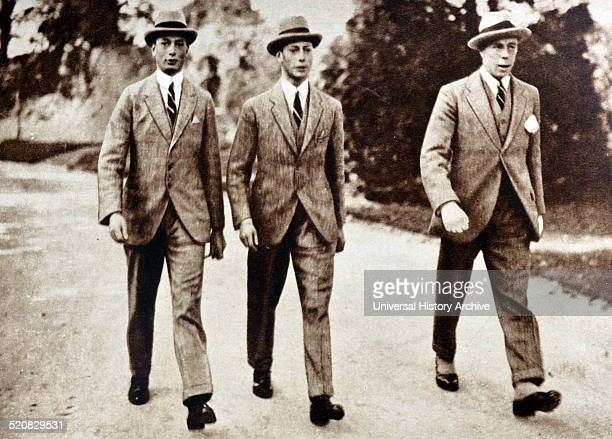 Prince Albert is shown with his brother Prince Henry and Commander Greig taken in Cambridge England