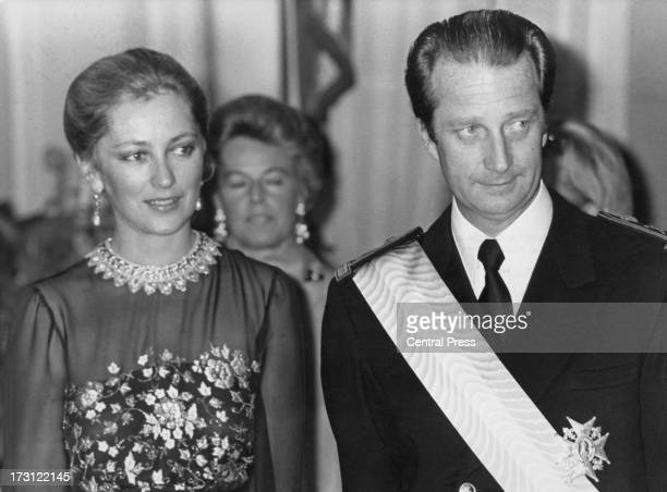 Prince Albert of Belgium and Princess Paola of Belgium 12th December 1977